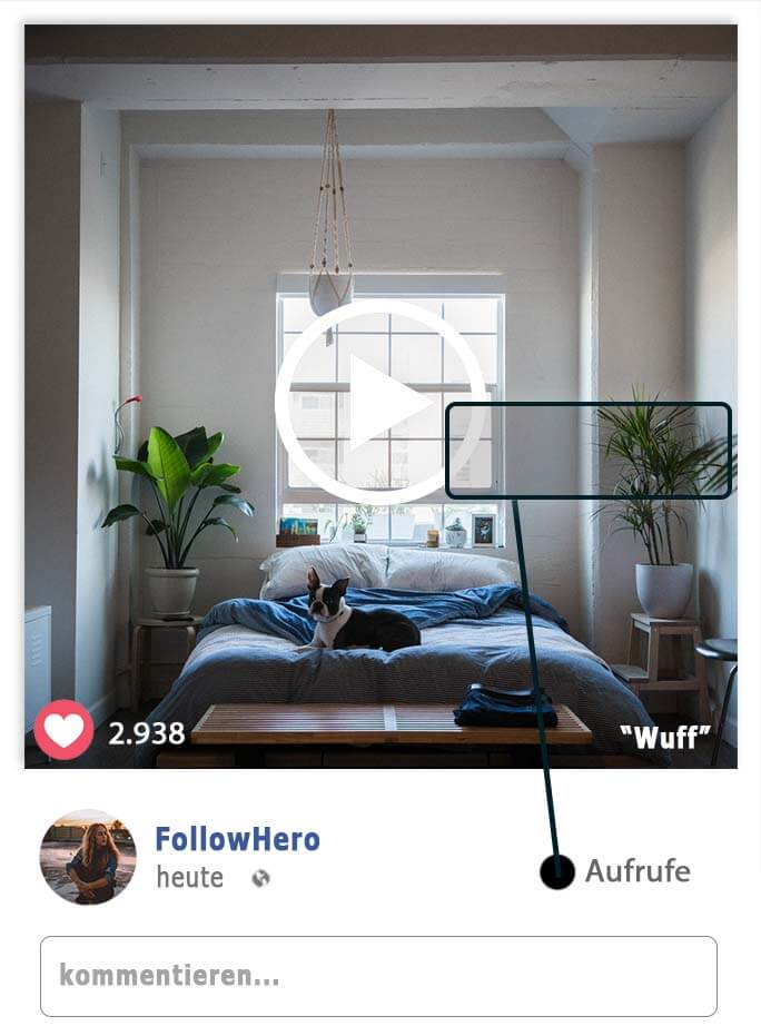 facebook video aufrufen kauf, followhero, follow hero
